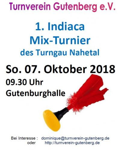Indiaca Mix-Turnier in Gutenberg