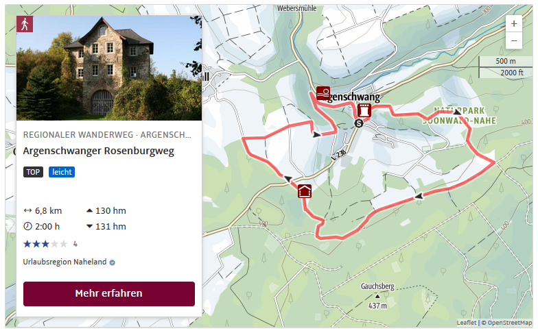 Wandern rund um die Rosenburg